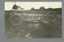 St. Paul MINNESOTA RP c1915 CAR ACCIDENT Clarkson Coal & Dock Co. TIPPED OVER