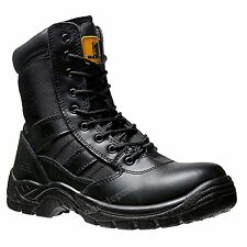 Mens Safety Steel Toe Cap Combat Boot Police Army Military CADET Boots size 6/40
