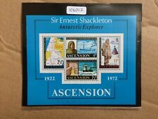 Ascension 1972 50th Anniversary Shackleton Death (M/S) (SG MS 163) MNH (106012)