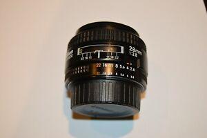 Nikon AF Nikkor 28mm (1:2.8) lens with caps, Manual Focus Only