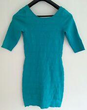 Authentic MANGO SUIT Ladies Emerald Green Mini-Dress. Size Medium.
