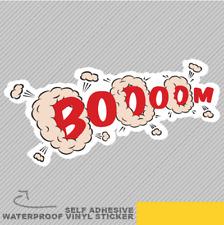 BOOOM Cloud divertente popò Turbo rumore Adesivo Vinile Decalcomania Finestra Auto Van Bici 2331