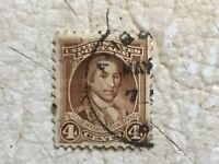 Used 4 Cent George Washington 1932 Postage Stamp