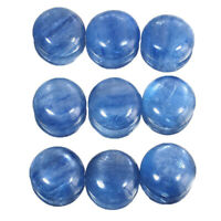 9 Pcs Natural Kyanite 12mm Round Cabs Finest Quality Untreated Loose Gemstones