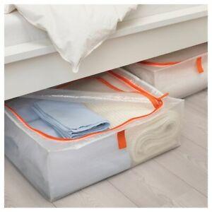IKEA PÄRKLA Aufbewahrung Box Tasche Organizer Unterbett Kommode transparent NEU