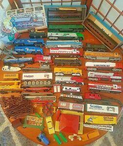 Huge lot Vintage HO Train Locomotives Engines Cars Athearn Life Tyco Bachmann +