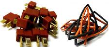 C0102H RC Battery T-Plug Plug Connector Male Female x 5 with 20cm Heatshrink 5mm