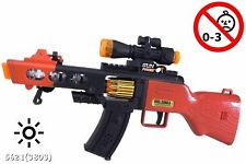 1 NEW TOY MACHINE GUN WITH LIGHTS SOUND Rotating Bullets MILTARY ASSAULT RIFLE