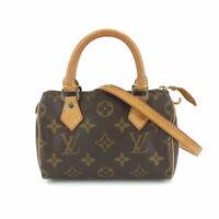 LOUIS VUITTON Monogram Mini Speedy 2way Hand Shoulder Bag Brown M41534 90119176