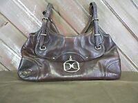 DKNY Brown Leather Medium Shoulder Bag Purse Handbag
