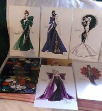 Bob Mackie Barbie Original Design Jewel Essence Collection Portfolio Sketches