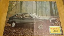 1977 Honda Range Brochure Poster Inc. Accord, Civic, TN360