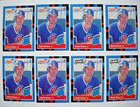 1988 Donruss Leaf Mark Grace Rookie Card Lot (8 Cards)