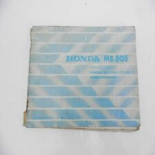 Honda   MB 80 S Betriebsanleitung Handbuch Service manual Fahrerhandbuch