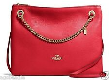 Coach Bag F52901 Pebble Convertible Crossbody Red Agsbeagle