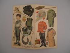 Vtg Willimantic Thread Boy Paper Doll Unuct Victorian Advertising Trade Card