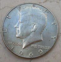 1/2 Dollaro1969 Stati uniti d'America moneta in Argento - n  1033