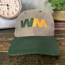 RARE Waste Management WM Baseball Green/Gray Hat