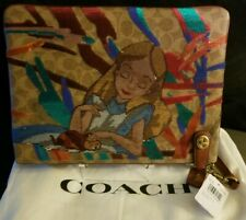Rare Disney X Coach Alice in Wonderland Kisslock Wristlet Pouch Purse Clutch NWT