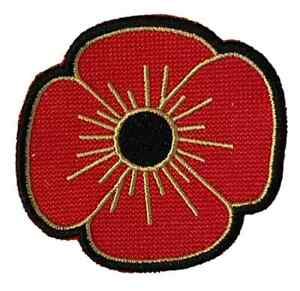Embroidered Lest We Forget Remembrance Sew on or Iron on Patch Badge (A)
