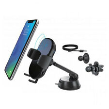 Aerpro 3 Way Car Mount/Holder Fast Charging/Touch Sensor Qi Wireless Charger BLK