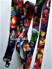 Marvel Avengers Heroes Lanyard Neck Strap - ID Holder / MP3 / Keys / Whistle