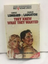 They Knew What They Wanted Carole Lombard & Charles Laughton Betamax Tape