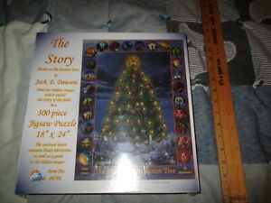 SUNSOUT 300 PIECE JIGSAW PUZZLE-46701 ,THE STORY BY JACK E. DAWSON -NEW IN WRAP