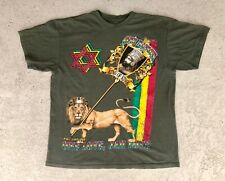 Adult T Shirt  XL Vintage Rastafari One Nation King of Kings Jah Love Revolution