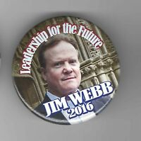 2016 pin JIM WEBB pinback Former Virginia Senator