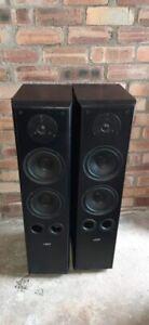 ELTAX Symphony 8.2 Floorstanding Speakers BiWireable Hifi AV Front In Black