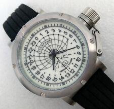 Russian 24-hour mechanical watch Polar Bear (Barneo) 46 mm white luminescent
