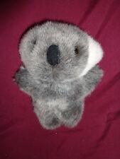 "Bear Koala small gray standing 6"" stuffed plush fuzzy nose white ears"