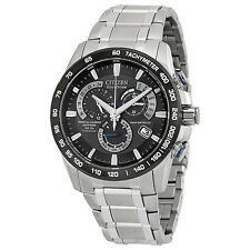 New Citizen Eco-Drive Titanium Perpetual Calendar Chrono Mens Watch AT4010-50E