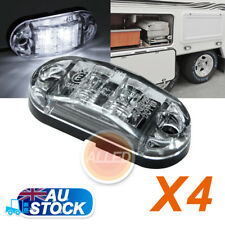 4X12V DC Cool White LED Side Marker Lights Indicators Clearance Truck Lorry Lamp
