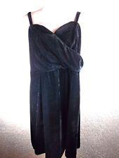 Lane Bryant Dress 20 Sheath Black Velvet Removable Straps V-neck Party Cocktail