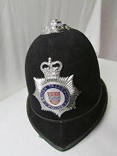 """Vintage 1960's British Transport Police """"Bobby"""" Helmet w/ Foam Padding & Strap"""