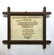1812 Early American Signed Antique Needlepoint Sampler from M Finkel & Daughter