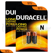 4 x Duracell Alkaline N LR1 1.5V batteries MN9100 E90 AM5 2 in Pack