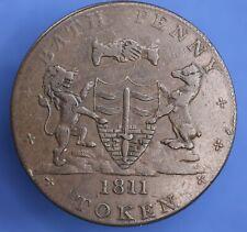 More details for 1811 bath penny token 1d coin, whitchurch & dore 1d token coin *[22138]