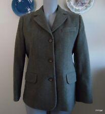 LL Bean Women's Jacket Herringbone Tweed Cashmere Wool Blend Hunt Equestrian 8P