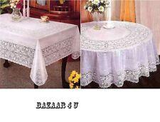 Vinyl Lace Tablecloth 135 X 135cm
