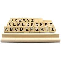 JPSOE 4PCS Wood Rack Tile Rack Wooden Scrabble Replacement Letter Holder Craft