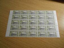 Sierra Leone KGVI 1/- Block of 25 - MNH - catalogue £87 - Ref SR7