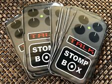 Stomp Box Talk Vinyl Stickers