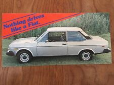 FIAT 131 2-DOOR COUPE ORIGINAL Large Factory Postcard