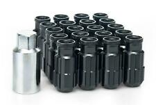 20 x BLACK D1 Aluminium Lock Lug Wheel Nuts (M12x1.5) with tool
