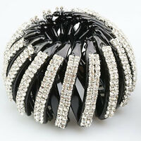Womens Crystal Hair Jaw Claw Clip Barrette Ponytail Holders Hair Accessories