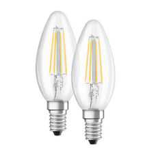 OSRAM 2er Pack 4-W-Filament-LED-Kerzenlampe, E14, warmweiß
