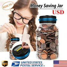 Lcd Money Box Bank Case Large Coin Counting Jar Change Counter Saving Boxes Us